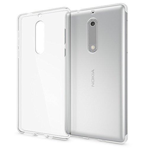 NALIA Handyhülle kompatibel mit Nokia 5, Ultra-Slim TPU Silikon Case Cover Crystal Clear Schutzhülle Dünn Durchsichtig, Etui Hülle Handy-Tasche Backcover Transparent, Smartphone Schutz Bumper