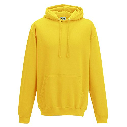 Just Hoods College Hoodie, Sun Yellow, XXL