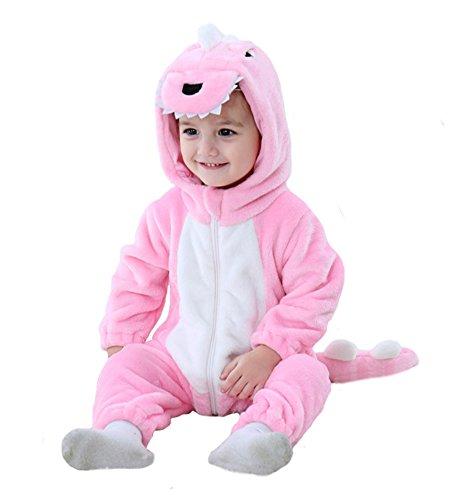 Tonwhar unisex-baby kleinkind-säugling tiger dinosaurier tier kostüm Rosa 100(Height:31