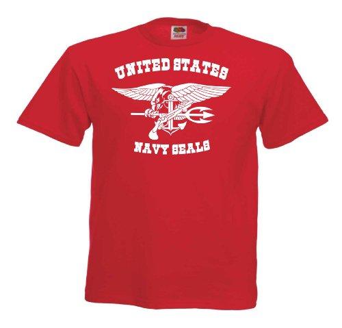 NAVY SEALS III T524 Unisex T-Shirt Textilfarbe: rot