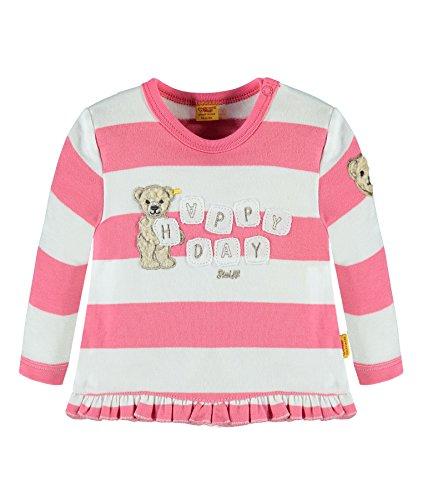 Steiff Baby-Mädchen Sweatshirt 1/1 Arm, Rosa (Hot Pink 2610), 80 (Herstellergröße:80)