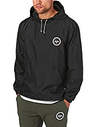 Hype Homme kagoule Crest Logo Jacket, Noir