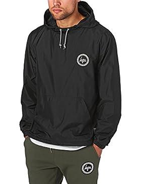 Hype Hombre Kagoule logotipo de la cresta de la chaqueta, Negro
