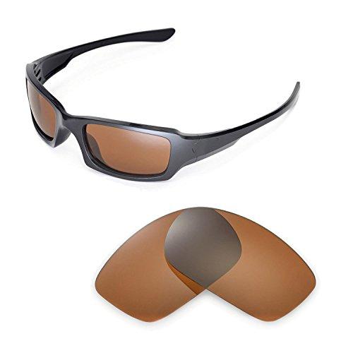 Walleva Ersatzgläser für Oakley Fives Squared Sonnenbrille -Mehrfache Optionen (Braun - polarisiert)