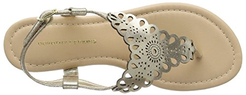 Dorothy Perkins - Floss Lace, Scarpe col tacco Donna Blue (Metallic)