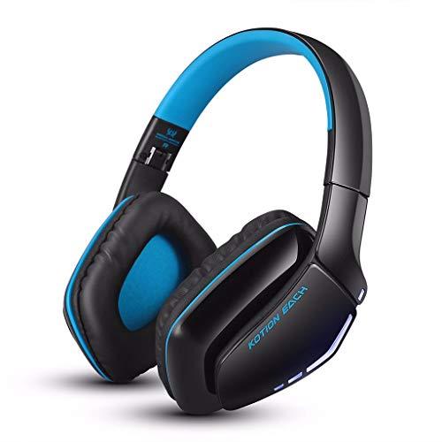 LRWEY Bluetooth Kopfhörer, Wired \ Wireless Headset Faltbare Geräuschisolation Gaming Kopfhörer mit Mikrofon für iPhone, iPad, Samsung, Huawei, xiaomi und mehr