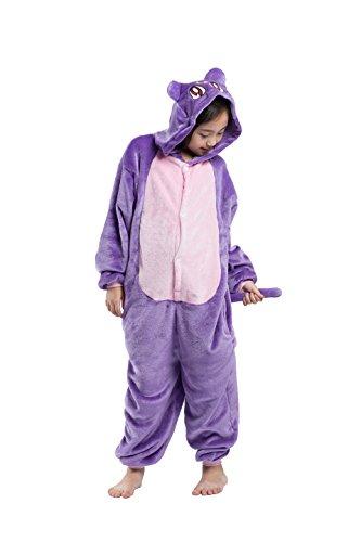 der Cartoon Katze Ein Stück Kapuzen Strampelanzug Schlafanzug Cosplay Kostüm Nachtwäsche 110cm (Halloween Kostüme Etsy)