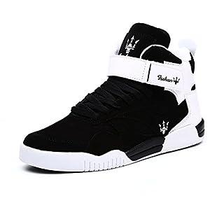FZUU 2017 Neue Art und Weiseherbst Winter neue Mann Teens hohe Hilfe Hip Hop Mann Straßen Tanz beiläufige Schuh Gezeiten Schuhe Sneaker (42 EU, Schwarz)