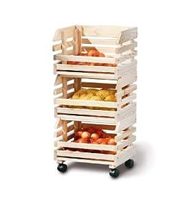13Casa - Think Design,  Fruits 60100400 Cassette impilate per frutta