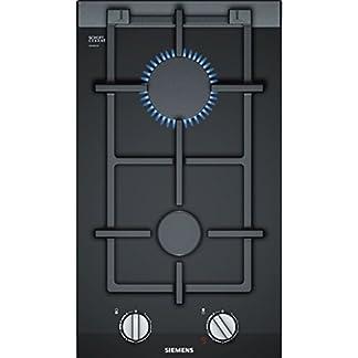 Siemens ER3A6BD70D hobs Negro Integrado Encimera de gas – Placa (Negro, Integrado, Encimera de gas, Vidrio y cerámica, 1900 W, 2800 W)