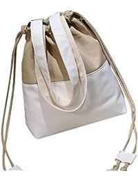 Sannysis bolsos de mujer con cordón Lona de color