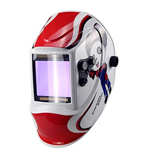 Schweißhelm, solarbetrieben, automatische Verdunkelung, DIN5-DIN13 Schweißerhelm, mit 4 Lichtbogen-Schweißsensor, Sonde und einstellbarer Schattierungsbereich für Mig Tig Arc Welder Maske, Mehrfarbig -