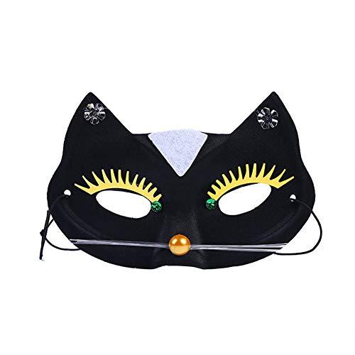 Lovemay Maske Mode Schwarz Katze Maskerade Maske Damen Kunststoff Maske Halloween Party Masken - Schwarze Maske Maskerade Katze