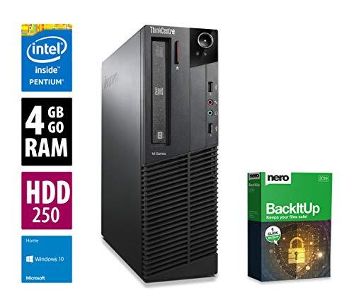 Ordinateur de Bureau Lenovo ThinkCentre M82p SFF - Pentium G2020 @ 2,9 GHz - 4Go RAM - 250Go HDD - Lecteur DVD - Win10 Home 64 Bits (Reconditionné Certifié)