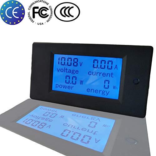 KETOTEK Amperemeter Digital Voltmeter Spannungsprüfer LCD Volt DC 20A 6,5-100V Voltmeter Volt Ampere Multimeter (DC 6.5-100V 0-20A) -