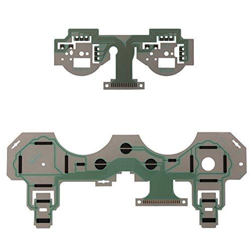 le,eJiasu Wiedereinbau-Handgriff-Tastatur-Reparatur-Teile flexibler Schüttel-Controller Leitfähige Film-leitende Membran für PS3 drahtlosen Steuerpult SA1Q222A (2pcs) (Ps3-steuerung Mod)