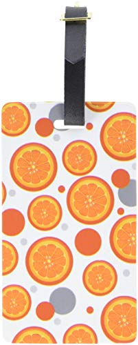 Graphics & More Luggage Suitcase Carry-on Id Tags-Food Drink Bacon Coffee-Orange Slice, White