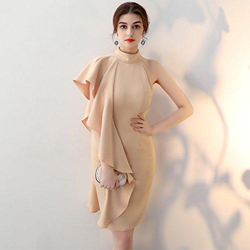 Abendkleid Hochzeitskleidung Sommer Frau Geburtstagsfeier Kleid Kurzer Absatz Minikleid (Farbe :...