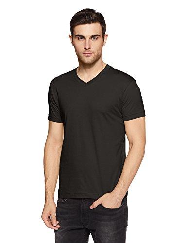 Jockey Men's Cotton T-Shirt (2726-0105-BLACK Black M)
