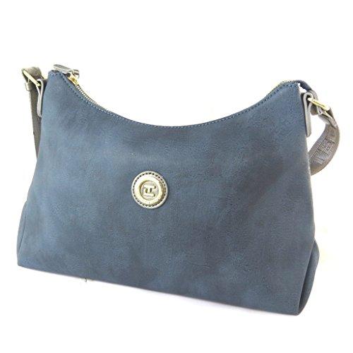 Bag designer 'Ted Lapidus'blu vintage - 40x25x12 cm.