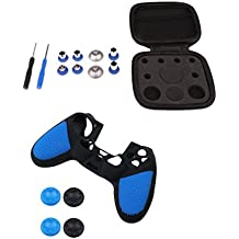 Homyl Replacement Bumper Trigger Button Set With Case +Silicone Case Cover For PS4