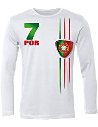 FOOTBALL WORLD CUP - EUROPEAN CHAMPIONSHIP PORTUGAL FAN Homme manches longues Small - XX-Large