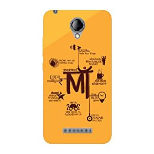 Kaira brand Designer Back Case Cover for Karbonn Titanium MachFive(Shadow of mom)