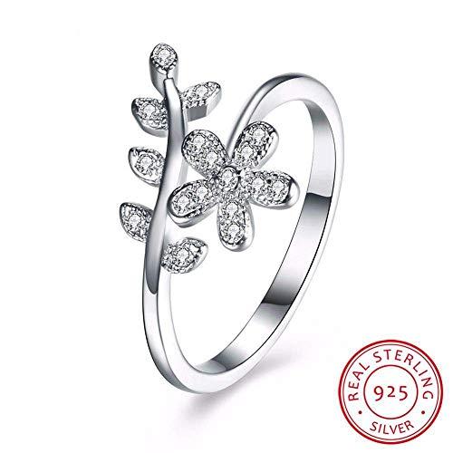 J-Z Fashionring Mode Weibliche Einfache Fingerring 925 Sterling Silber Schmuck Versprechen Verlobungsringe für Frauen, Ring, 9