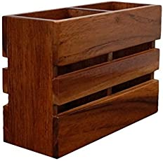 Wood Art Store Wooden Cutlery Holder/Multipurpose Stand