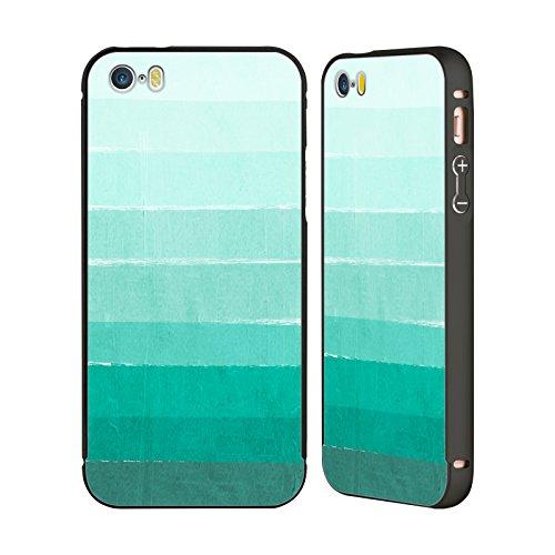 Ufficiale Charlotte Winter Sogno Ombre Nero Cover Contorno con Bumper in Alluminio per Apple iPhone 5 / 5s / SE Oceano