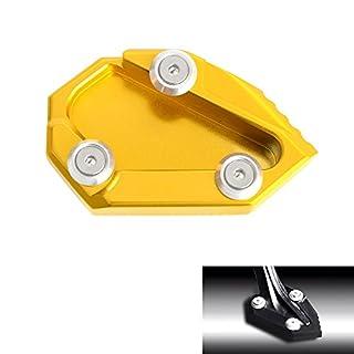 H2Racing Gold Motorrad Seitenständer Unterstützung Fuß-Verbreiterung Ständer Pad für D-i-avel Carbon/D-i-avel 2011-2016 AMG Cromo 2012