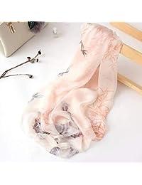 Hqysjin Mesdames écharpes en Soie Vintage Soie écharpes de Plage été Long  Paragraphe Sauvage Section Mince 11e1e02c610