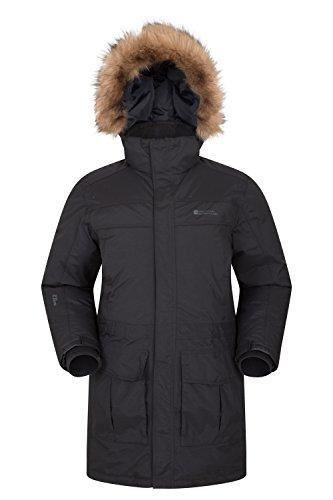 b12aa3ec91 Mountain Warehouse Antarctic Extreme Down Mens Jacket - Adjustable Waist
