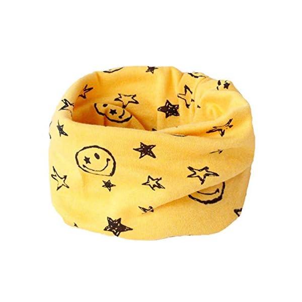 Danolt Bufanda de los niños, Bufanda de algodón de Invierno Calentador de Cuello Pañuelos para bebés, niños y niñas, 0-3… 3