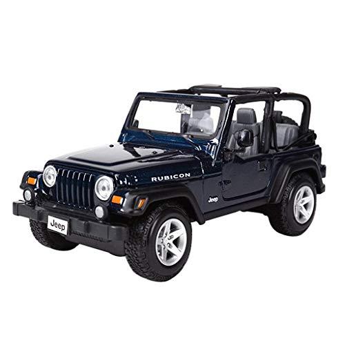 Maisto Modello Auto 1:24 High Simulator Modello in Metallo Auto Jeep Jeep Wrangler Model Car Lega Giocattoli per Bambini Collezione Regalo Scala Simulazione Veicolo ( Color : Gold )