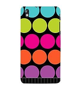 Big Dotted Pattern 3D Hard Polycarbonate Designer Back Case Cover for HTC Desire 816::HTC Desire 816 G::HTC Desire 816D::HTC Desire 816G (Octa Core)
