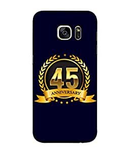 Samsung Galaxy S7 Edge, Samsung Galaxy S7 Edge Duos, Samsung Galaxy S7 Edge G935F G935 G935Fd Back Cover 45th Aniversary Golden Logo Design From FUSON