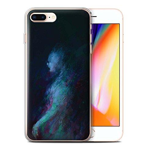 Offiziell Chris Cold Hülle / Gel TPU Case für Apple iPhone 8 Plus / Drachen/Finsternis Muster / Dunkle Kunst Dämon Kollektion Geist/Ghul