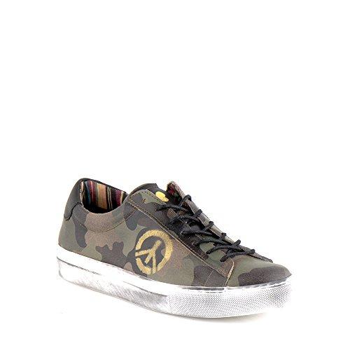 Felmini - Scarpe Donna - Innamorarsi com Fame A289 - Sneakers Militare - Pelle Genuina - Multicolore - 37 EU Size