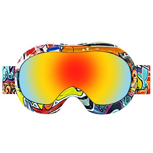 Ironheel occhiali da neve, occhiali da sci ultra-elastici professionali confortevoli unisex occhiali da sci per occhiali senza polvere per bambini all'aperto