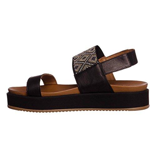 INUOVO scarpe donna sandali piattaforma 7260 NERO Black