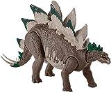 Jurassic World Stegosauro Super Attacco Doppio Dinosauro Articolato, Giocattolo per Bambini 3+ Anni, GDL06