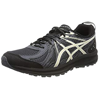 ASICS Men's Frequent Trail Running Shoes, Black/Birch 005, 6 UK