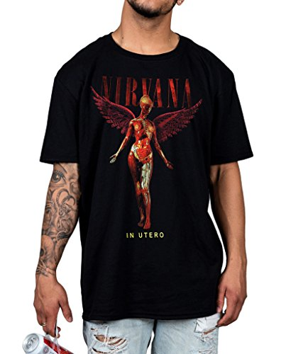 Official Nirvana In Utero Wings Unisex T-Shirt With The Lights Out Nevermind Roc