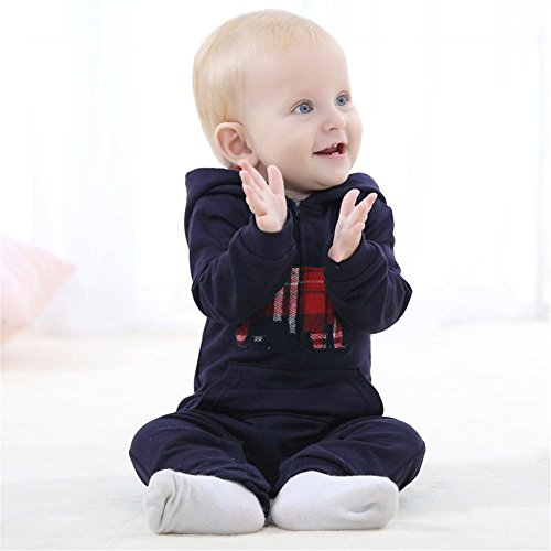 Harry Potter Kleiderschrank (YP® Baby-Kleidung Frühling und Herbst Overall Crawling Kleidung Anzug Kinder Hooded Bademantel , blue , 100)