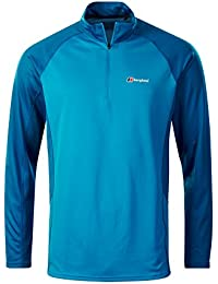 Berghaus Men's Tech 2.0 Zip Neck Longsleeve T-Shirt