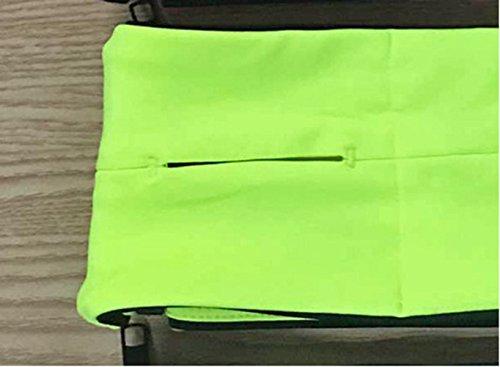 Multi-Funzione Marsupio per lo Svolgimento di Cuffia / Carta / Denaro giallo limone-XL