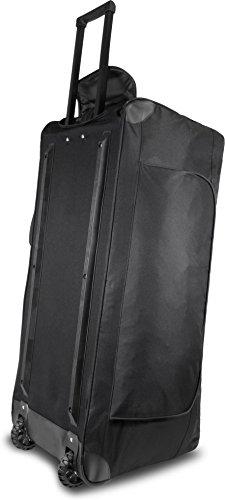 XXL Reisetasche mit Trolleyfunktion mit Rollen und Verstärkungsstreben Schwarz / 80 Liter