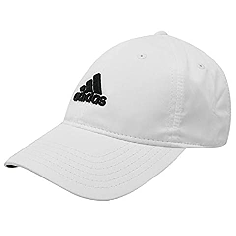 adidas Mens Golf Sports Flexible Peak Cap Hat Touch And Close Brand New White Mens - White Golf Cap