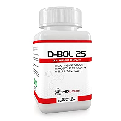 D-BOL 25® - Testosterone Booster & Anabolic Bulking Agent / Legal Muscle Growth Activator / 30 Days Supply from Muscle Distributing Limited